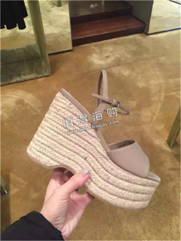 MIUMIU2016春夏新款女款松糕凉鞋代购 意大利MIUMIU新品代购