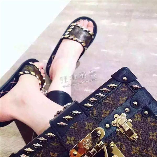 LV 2016新款女款拖鞋 Louis Vuitton意大利正品专柜代购
