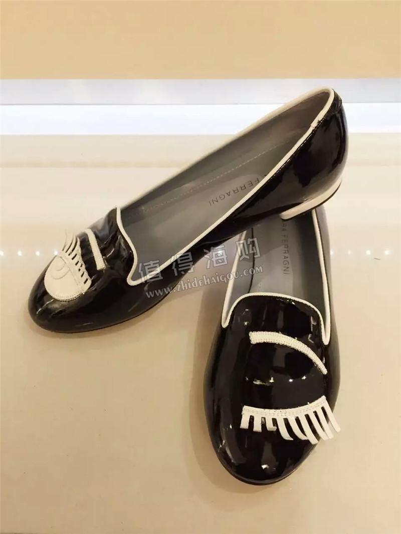 海外意大利品牌正品代购 Chiara Ferragni 女鞋单鞋漆皮