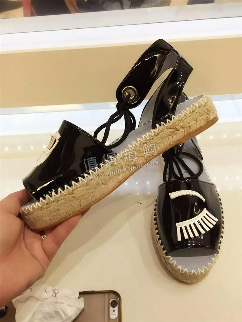 海外意大利品牌正品代购 Chiara Ferragni 女鞋 凉鞋 漆皮