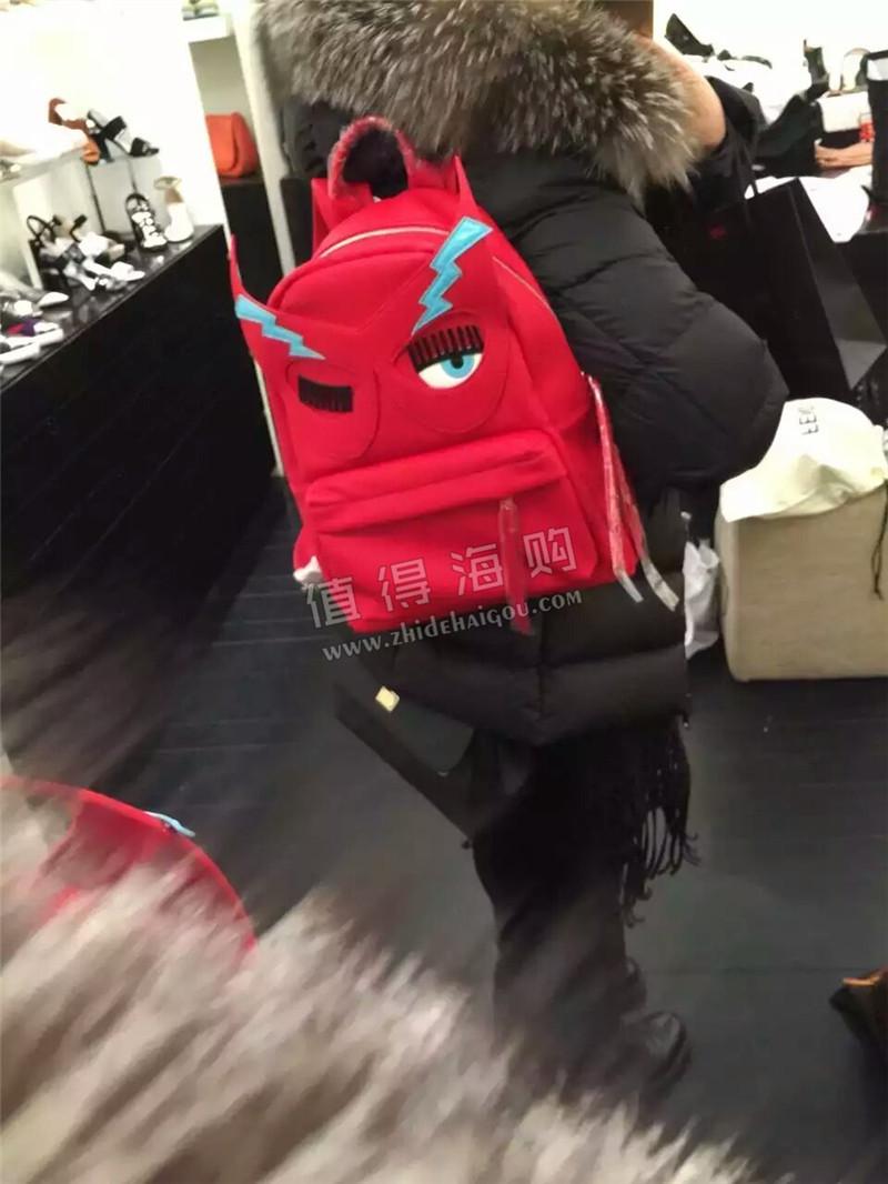 Chiara Ferragni 海外意大利品牌正品代购 双肩包 2016 bling款小号红色新款