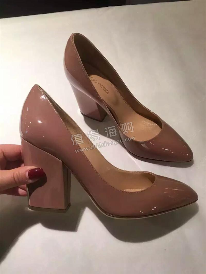 Sergio Rossi塞乔罗西 欧州意大利代购 坡跟女鞋