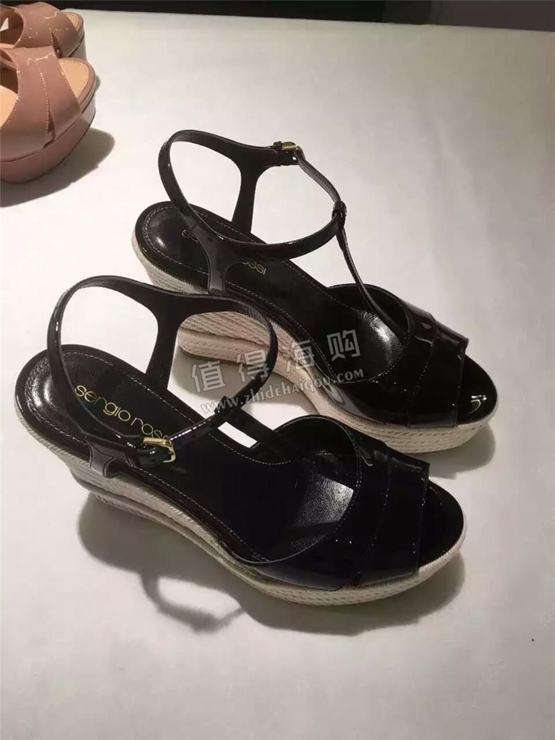Sergio Rossi塞乔罗西 欧州意大利代购 坡跟女鞋凉鞋