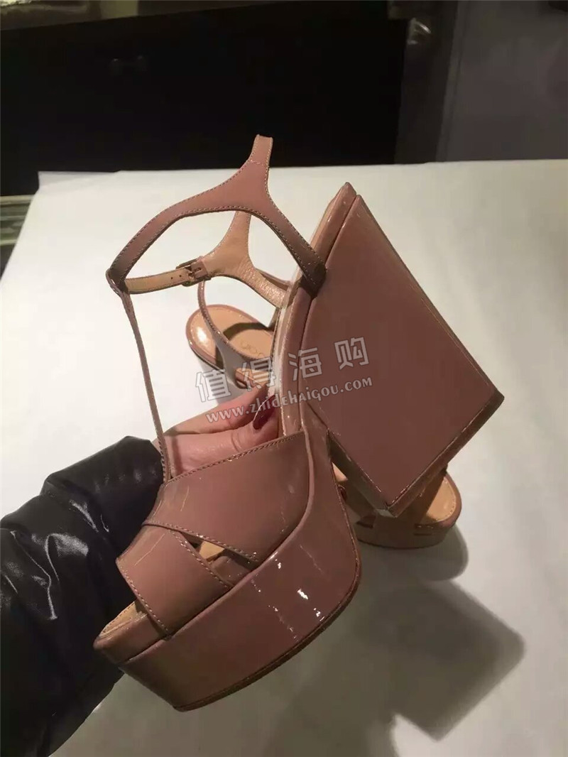 欧州意大利代购 Sergio Rossi塞乔罗西 坡跟女鞋凉鞋