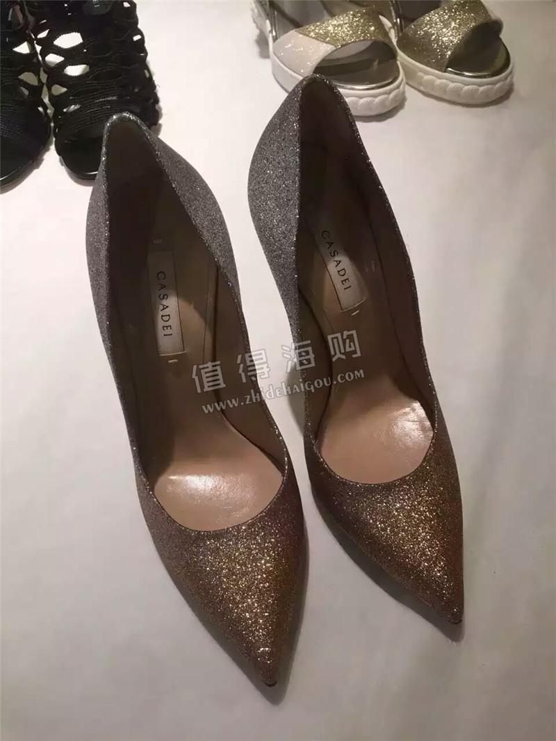 Casadei 海外代购意大利 bling bling 又色细跟单鞋