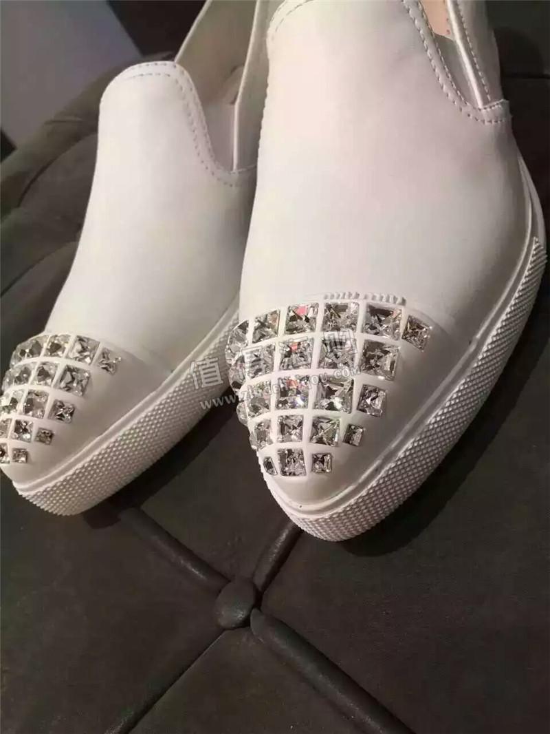 Prada普拉达 全球海外正品代购 男士皮鞋 钻
