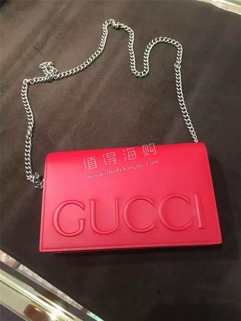 Gucci 古驰 意大利专柜代购 红色女包包