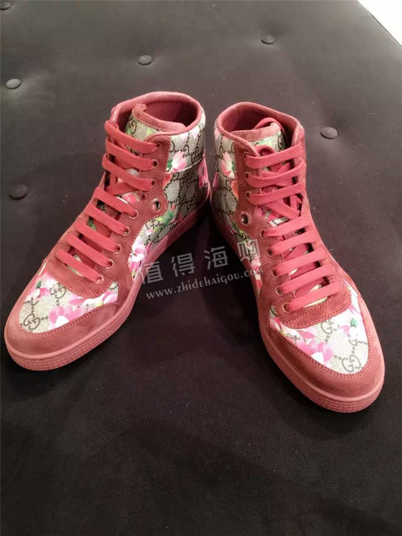 古驰Gucci 意大利专柜代购 花系列 女鞋 高帮鞋 两个款