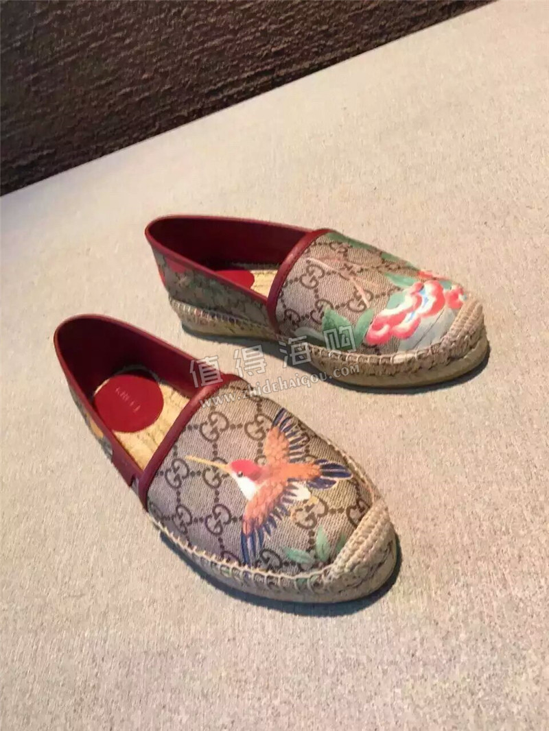 古驰Gucci 意大利专柜代购 女鞋 渔夫鞋
