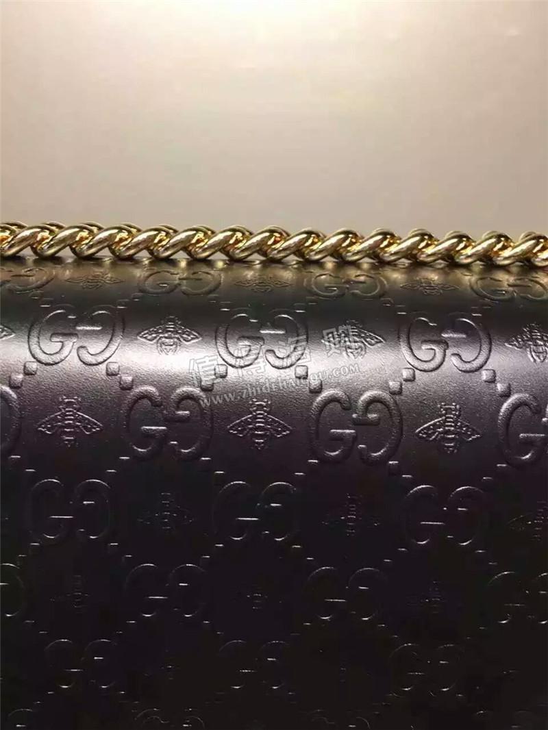 Gucci 意大利专柜代购古驰 单肩包 粗链黑包包