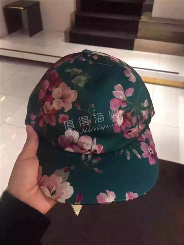 GUCCI 意大利专柜代购 古驰2016新款 花卉系列 帽子两个颜色