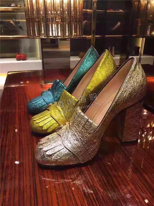 GUCCI古驰2016新款爆款中高跟女鞋 专柜新款正品代购