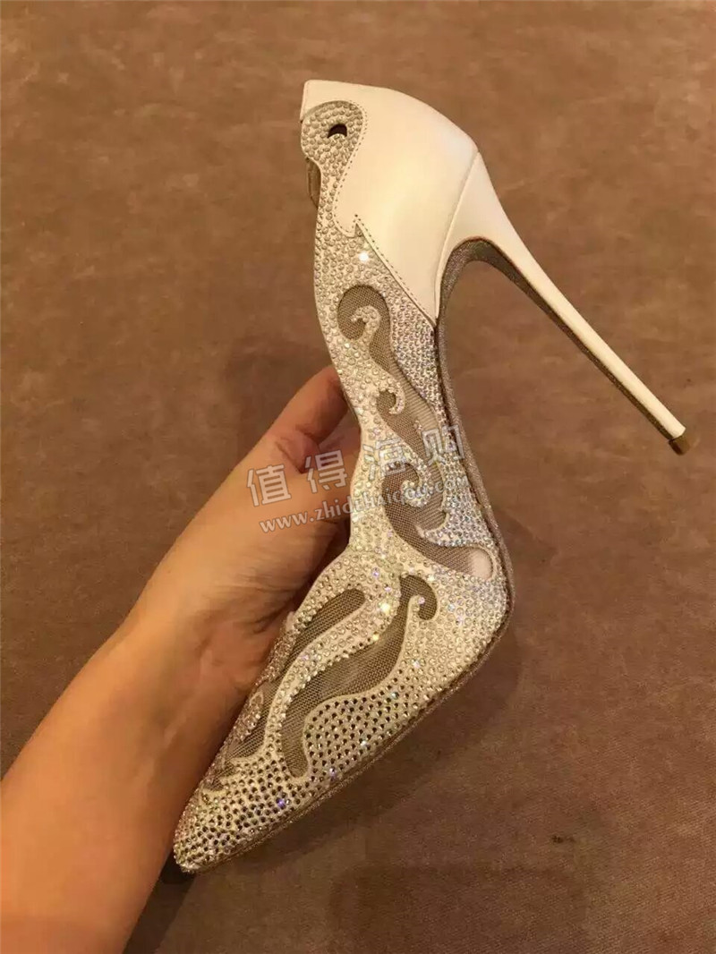 Rene Caovilla芮妮·乔薇拉 超级美丽高贵高跟鞋 代购有黑色银色