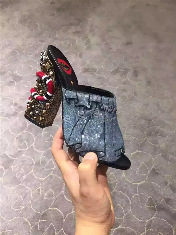 Gucci 2016年新款走秀款高跟凉鞋 古驰新款秀款代购