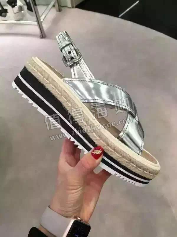 Prada 普拉达2016年新款女鞋 凉鞋 prada意大利专柜正品代购