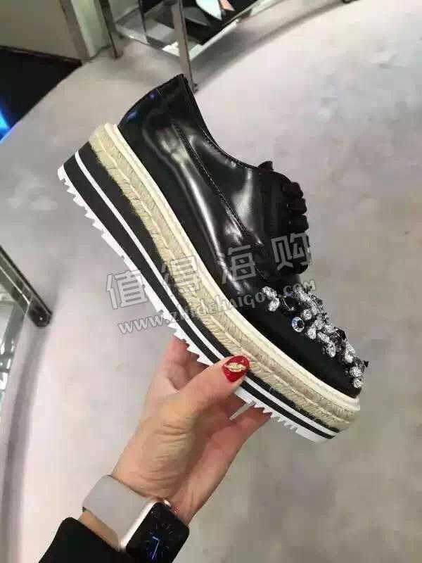 Prada 普拉达2016年新款女鞋 松糕鞋休闲鞋 Prada意大利代购