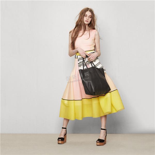 Maje 2016年新款女装 无袖连衣裙 色调柔和夏日必备美裙 Maje代购