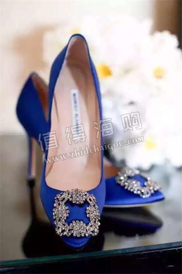 Manolo Blahnik 宝蓝色高跟鞋 MB你们懂的 手慢就没有咯 MB专柜代购