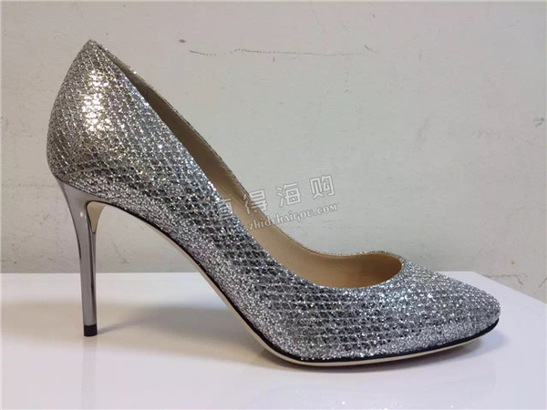 Jimmy Choo 2016年新款女鞋 银色高跟鞋与平底鞋 简单的美鞋 意大利代购