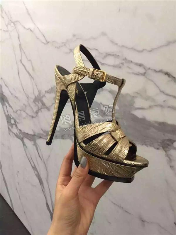 Ysl 2016年新款女鞋 高跟凉鞋 Saint Laurent圣罗兰专柜正品 SLP代购
