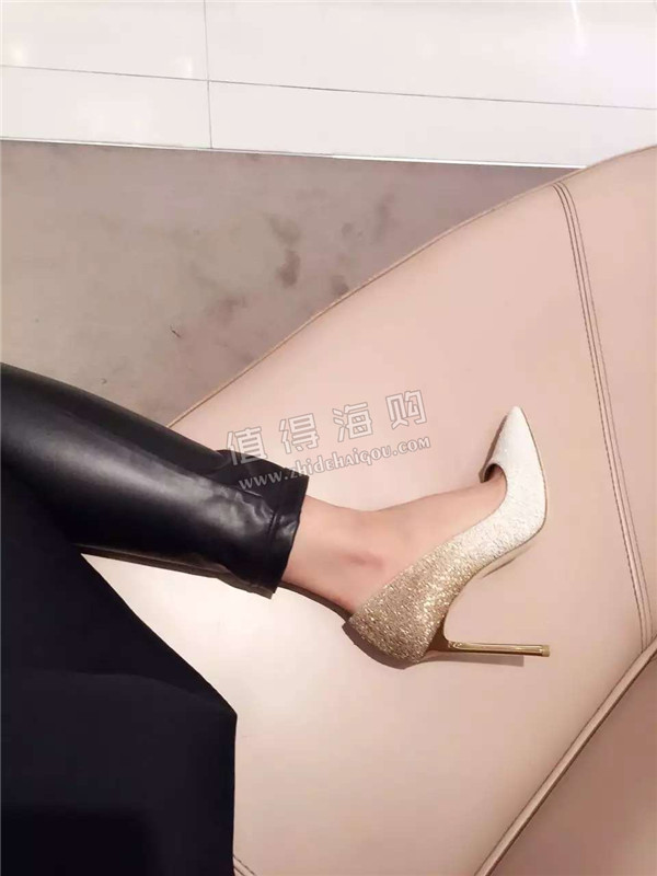 Jimmy Choo 2016年新款金色渐变10cm高跟鞋 看一眼就爱上的女鞋 JimmyChoo代购