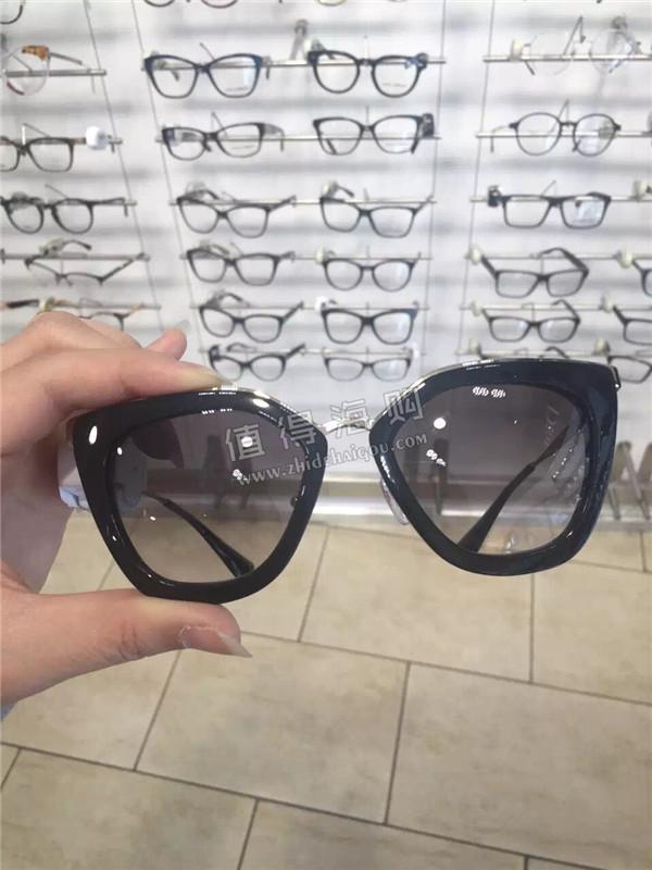 Prada 普拉达好看的黑框太阳眼镜 prada墨镜代购 prada意大利代购