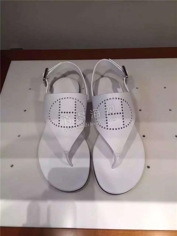 Hermes爱马仕 2016年新款 白色凉鞋 是最新款哦 Hermes意大利正品代购