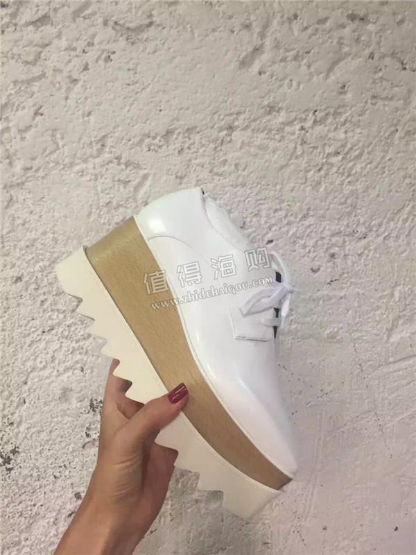 Stella McCartney 2016年新款 新颜色系Stella白色松糕鞋 意大利代购