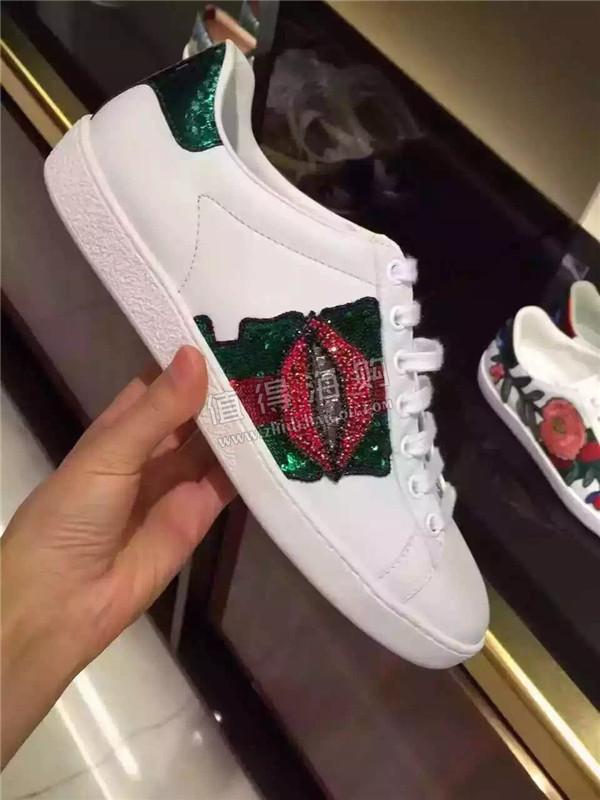Gucci 古驰2016年秋冬新款男士小白鞋 男女款都有 不要问我有多火 Gucci男鞋意大利代购