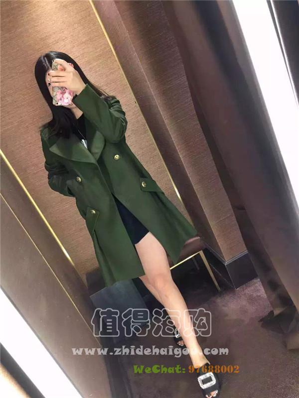 Pinko 2016年新款 秋冬新款女装大衣 很火的军绿色大衣 意大利Pinko新品折扣代购