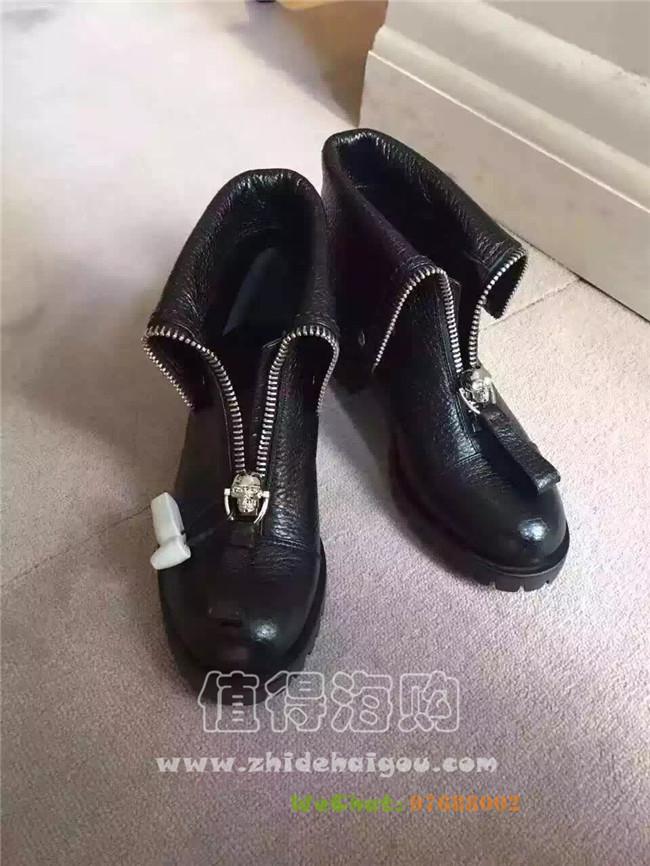 麦昆McQueen 2016年秋冬新款女靴 简单帅气穿出个性的靴子 麦昆MCQ意大利代购