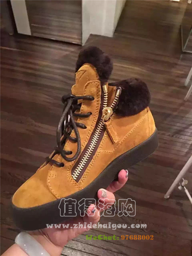 Giuseppe Zanotti 2016年秋冬新款女鞋 好看好穿运动休闲鞋 GZ意大利代购