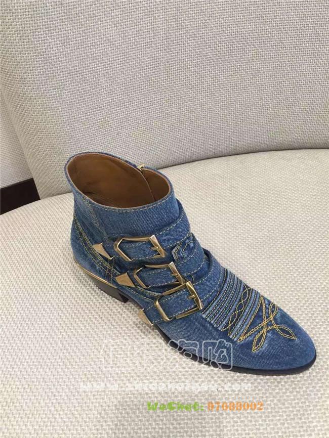 Chloé 蔻依2016年新款秋冬新款 女鞋 短靴 牛仔布款和真皮款任选啦 Chloe正品代购