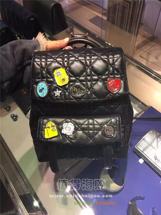 Christian Dior 迪奥 2016年最新款徽章双肩背包 懂得快来 dior意大利正品代购