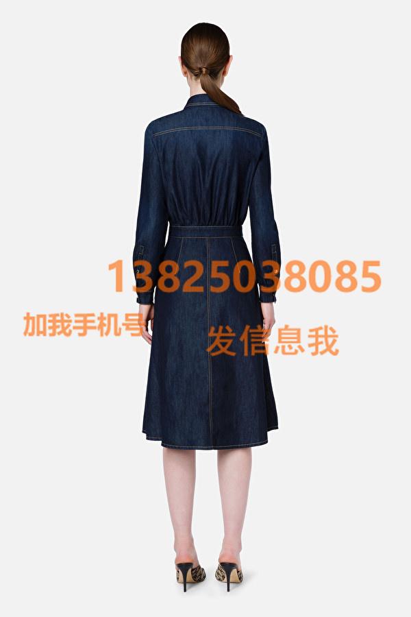 ElisabettaFranchi 21秋冬女装新款牛仔衬衫裙
